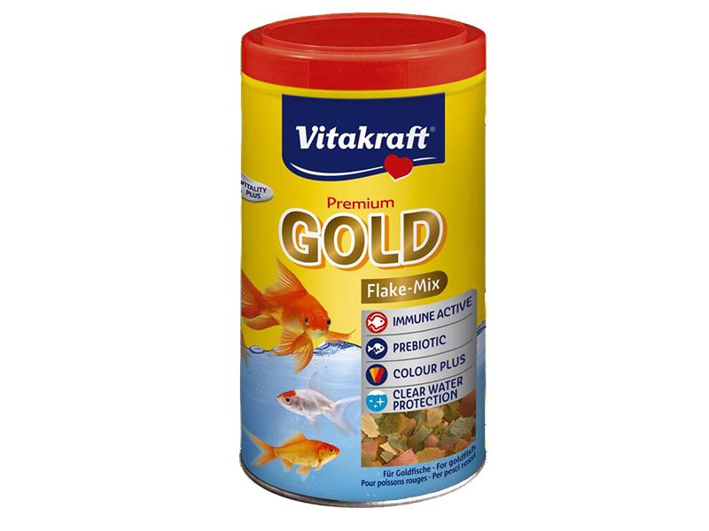 Gold aliment en flocons pour poissons rouges vitakraft for Aliment pour poisson rouge