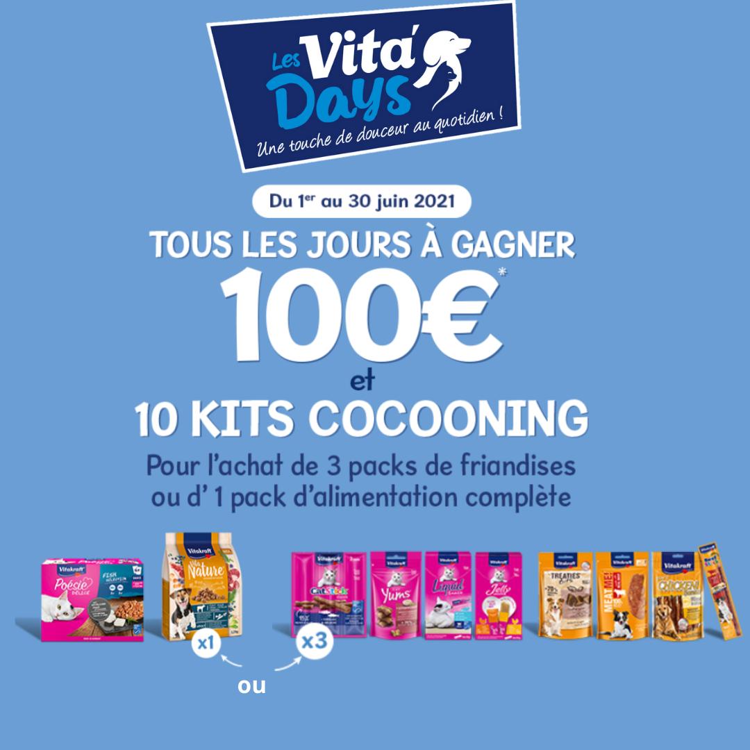 Gagner 100€ tous les jours avec Vita'Days